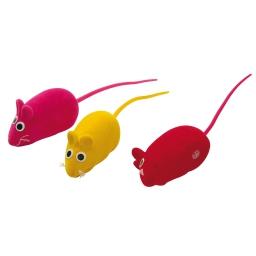 souris pour chat effet velours/3 - 4cm