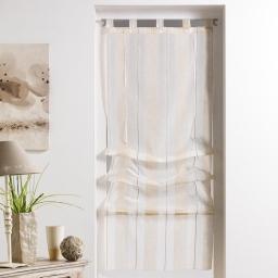 Store droit a passants 45 x 180 cm tisse naturel helios Lin