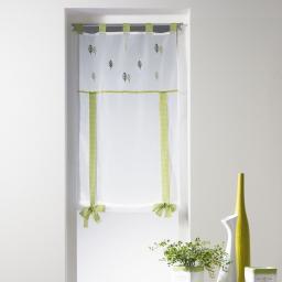 store droit a passants 60 x 150 cm voile brode leaf