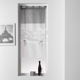Store droit a passants 60 x 180 cm voile uni+top imprime tunis Anthracite