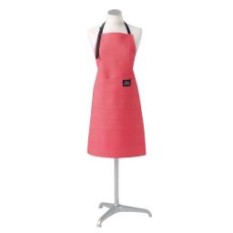 Tablier +poche 60 x 84 cm chambray uni harold Rouge