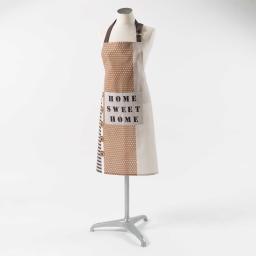 tablier +poche 60 x 84 cm coton imprime esprit d'antan