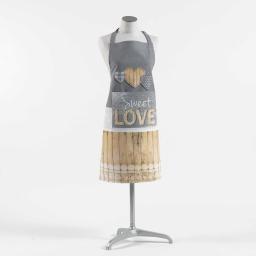 tablier +poche 60 x 84 cm coton imprime hearty