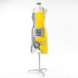 Tablier +poche 60 x 84 cm coton imprime liberty yellow Jaune