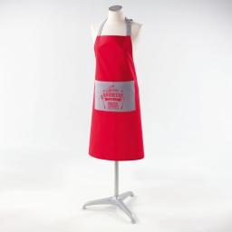 Tablier +poche 70 x 85 cm coton imprime barbecue Rouge