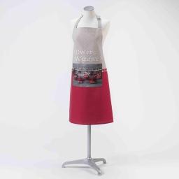 Tablier +poche 70 x 85 cm coton imprime sweet winter Lin