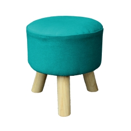 Tabouret (0) 32 cm x ht 36 cm coton uni prince Bleu
