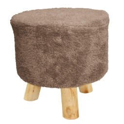 Tabouret (0) 32 cm x ht 36 cm sherpa everest Taupe