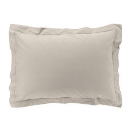 Taie d'oreiller 50 x 70 cm en percale uni 78 fils Lin