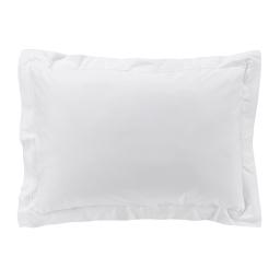 Taie d'oreiller 50 x 70 cm en percale uni 78 fils percaline Blanc