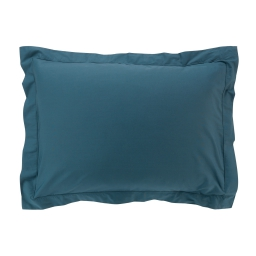 Taie d'oreiller 50 x 70 cm en percale uni 78 fils percaline Bleu Bleu