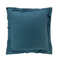 Taie d'oreiller 63 x 63 cm en percale uni 78 fils Bleu