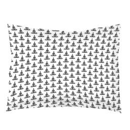 Taie d'oreiller volant plat 50 x 70 cm imprime 57 fils allover yoga blanc/anthra Blanc/Anthracite