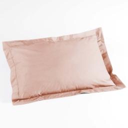 Taie d'oreiller volant plat 50 x 70 cm uni 57 fils lina  +point bourdon Nude