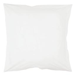 Taie d'oreiller volant plat 63 x 63 cm uni 57 fils lina  + point bourdon Blanche
