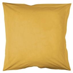 Taie d'oreiller volant plat 63 x 63 cm uni 57 fils lina  + point bourdon Miel