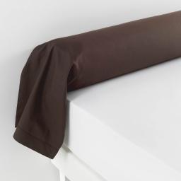 Taie de traversin 85 x 185 cm uni 57 fils lina Chocolat
