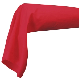 Taie de traversin 85 x 185 cm uni 57 fils lina   + point bourdon Coquelicot