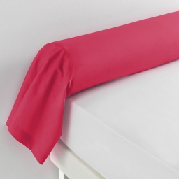 Taie de traversin 85 x 185 cm uni 57 fils lina Rouge