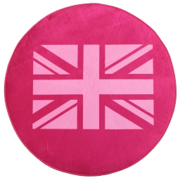 Tapis (0)90 velours imp. uk flag Rose