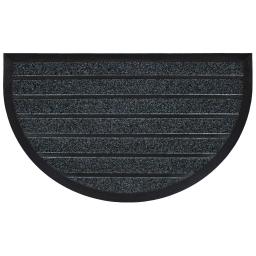 Tapis d'entree demi-lune 45 x 75 cm pvc grattoir marco Gris