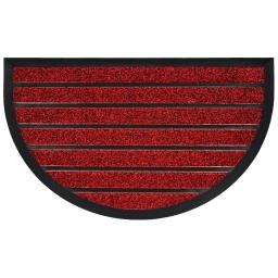 Tapis d'entree demi-lune 45 x 75 cm pvc grattoir marco Rouge