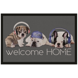 tapis d'entree rectangle 40 x 60 cm photoprint doggy style