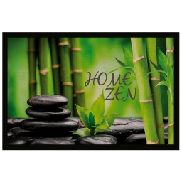 tapis d'entree rectangle 40 x 60 cm photoprint home zen