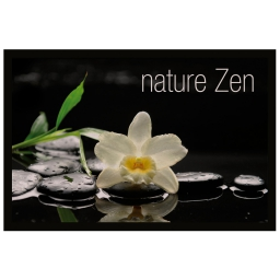 tapis d'entree rectangle 40 x 60 cm photoprint nature zen