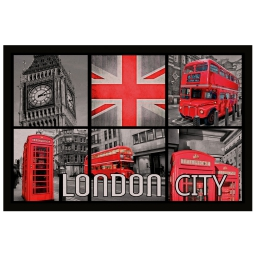 tapis d'entree rectangle 40 x 60 cm photoprint red london