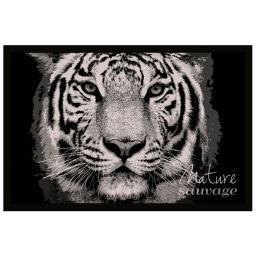 tapis d'entree rectangle 40 x 60 cm photoprint tigra