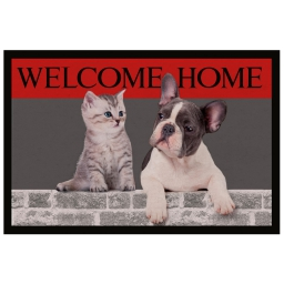 tapis d'entree rectangle 40 x 60 cm photoprint welcome home