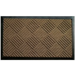 Tapis d'entree rectangle 45 x 75 cm relief pvc carreaux Naturel