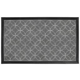 Tapis d'entree rectangle 45 x 75 cm relief pvc emilio Gris