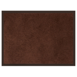 Tapis d'entree rectangle 60 x 80 cm anti-poussiere uni telio Choco