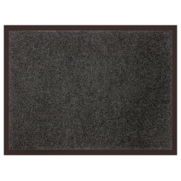 Tapis d'entree rectangle 60 x 80 cm anti-poussiere uni telio Gris