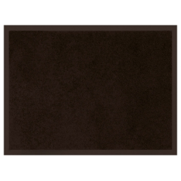 Tapis d'entree rectangle 60 x 80 cm anti-poussiere uni telio Noir