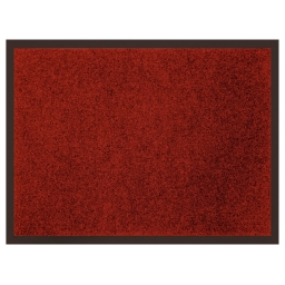 Tapis d'entree rectangle 60 x 80 cm anti-poussiere uni telio Rouge