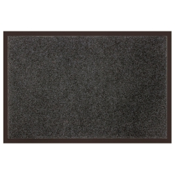 Tapis d'entree rectangle 80 x 120 cm anti-poussiere uni telio Gris