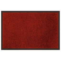 Tapis d'entree rectangle 80 x 120 cm anti-poussiere uni telio Rouge