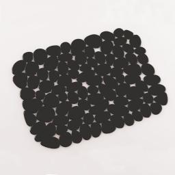 Tapis d'evier confectionne 30 x 26 cm pvc uni protect Noir