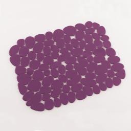 Tapis d'evier confectionne 30 x 26 cm pvc uni protect Prune