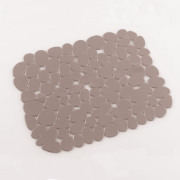 Tapis d'evier confectionne 30 x 26 cm pvc uni protect Taupe