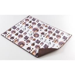 Tapis d'evier confectionne 38 x 50.5 cm microfibre easy deco Choco