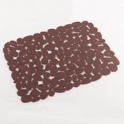 Tapis d'evier confectionne 40 x 30 cm pvc uni protect Choco