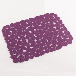 Tapis d'evier confectionne 40 x 30 cm pvc uni protect Prune