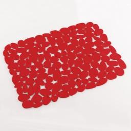 Tapis d'evier confectionne 40 x 30 cm pvc uni protect Rouge