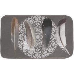 tapis de bain 45 x 75 cm microfibre imprimee abana des. place