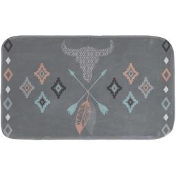 tapis de bain 45 x 75 cm microfibre imprimee apache des. place