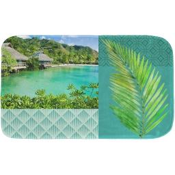 tapis de bain 45 x 75 cm microfibre imprimee copacabana des. place